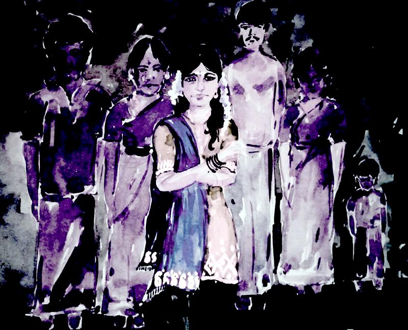 Painting by Phumeena Balasuberamaniam, 2015.