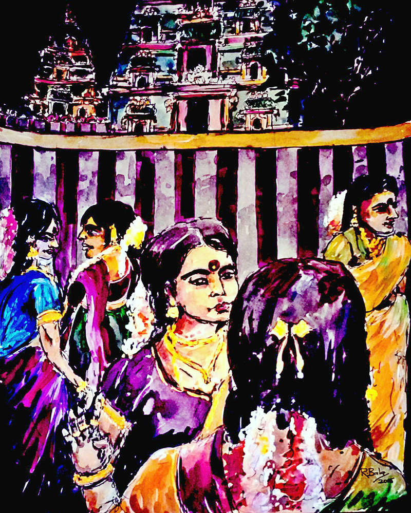"""Untitled"" by Balakankatharan Ramavariar. Water colour on paper. 2015."