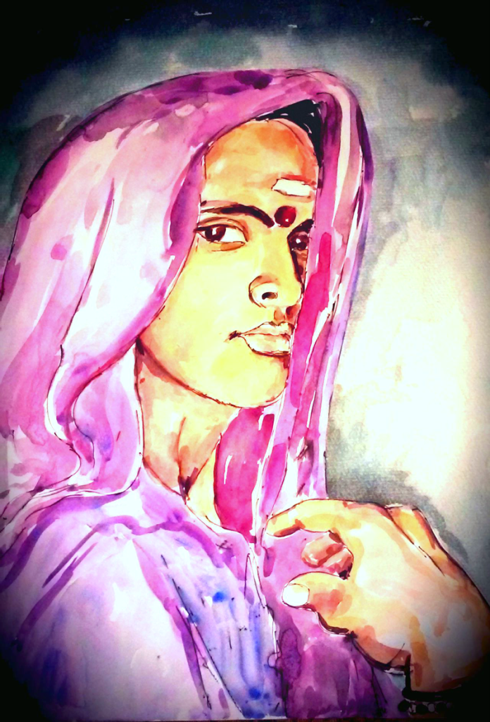 """Untitled"" by Phumeena Balasuberamaniam. Water colour on paper. 2015."